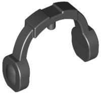 Lego alkatrész - Black Minifig, Ear Protector / Headphones
