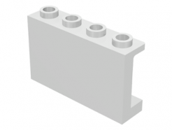 Lego alkatrész - White Panel 1x4x2 with Side Supports - Hollow Studs