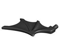 Lego alkatrész - Black Minifig, Wing Bat Style