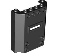 Lego alkatrész - Black Panel 2x6x6 with Window Slot