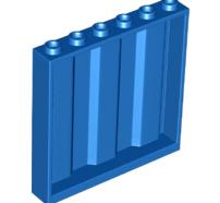 Lego alkatrész - Blue Panel 1x6x5 Corrugated