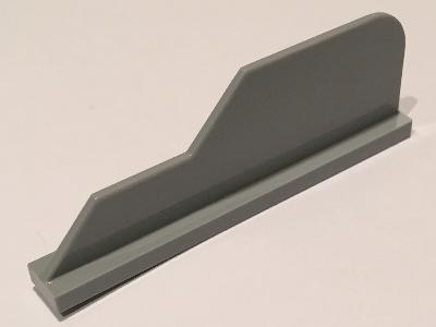 Lego alkatrész - Light Bluish Gray Tail 8x1 with Stepped Fin