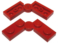 Lego alkatrész - Red Hinge Plate 1x4 Swivel Top / Base Complete Assembly