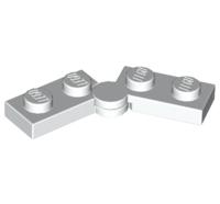 Lego alkatrész - White Hinge Plate 1x4 Swivel Top / Base Complete Assembly