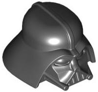 Lego alkatrész - Black Minifig, Headgear Helmet SW Darth Vader