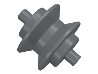 Lego alkatrész - Dark Bluish Gray Wheel Center Small with Stub Axles (Pulley Wheel)