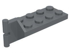 Lego alkatrész - Dark Bluish Gray Hinge Plate 2x4 with Articulated Joint - Male