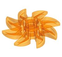 Lego alkatrész - Trans-Orange Propeller 8 Blade 5 Diameter