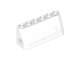 Lego alkatrész - Trans-Clear Windscreen 2x6x2