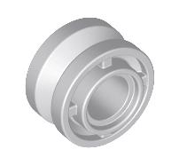 Lego alkatrész - Light Bluish Gray Wheel 11mm D. x 8mm with Center Groove