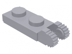Lego alkatrész - Light Bluish Gray Hinge Plate 1x2 Locking with 2 Fingers on End