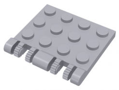 Lego alkatrész - Light Bluish Gray Hinge Plate 3x4 Locking Dual 2 Finger