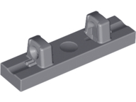 Lego alkatrész - Dark Bluish Gray Hinge Tile 1x4 Locking Dual 1 Fingers on Top