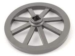 Lego alkatrész - Pearl Dark Gray Wheel Wagon Large 33mm D., Hole Notched for Wheels Holder Pin