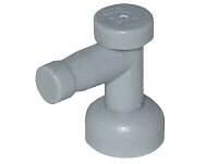 Lego alkatrész - Light Bluish Gray Tap 1x1 without Hole in End