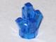 Lego alkatrész - Trans-Dark Blue Rock 1 x 1 Crystal 5 Point