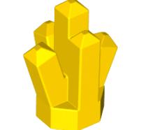 Lego alkatrész - Yellow Rock 1 x 1 Crystal 5 Point
