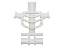 Lego alkatrész - White Torso Skeleton, Thick Shoulder Pins