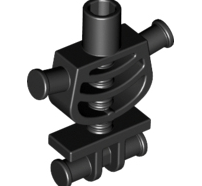 Lego alkatrész - Black Torso Skeleton, Thick Shoulder Pins