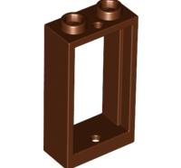 Lego alkatrész - Reddish Brown Window 1x2x3 Flat Front