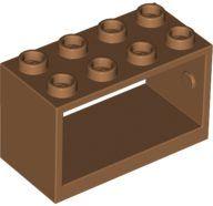 Lego alkatrész - Medium Dark Flesh String Reel 2x4x2 Holder