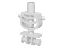 Lego alkatrész - White Torso Skeleton, Thin Shoulder Pins