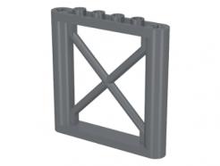Lego alkatrész - Dark Bluish Gray Support 1x6x5 Girder Rectangular