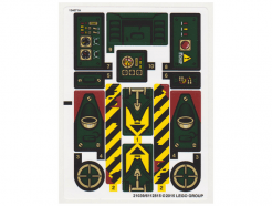Lego alkatrész - Sticker for Set 70735 - North American Version - (21039/6112815)