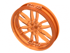 Lego alkatrész - Trans-Orange Wheel 75mm D. x 17mm Motorcycle