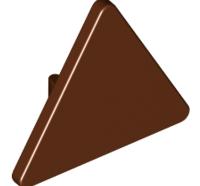 Lego alkatrész - Reddish Brown Road Sign Clip-on 2 x 2 Triangle