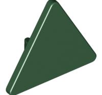 Lego alkatrész - Dark Green Road Sign Clip-on 2 x 2 Triangle