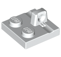 Lego alkatrész - White Hinge Plate 2x2 Locking with 1 Finger on Top