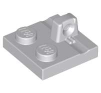 Lego alkatrész - Light Bluish Gray Hinge Plate 2x2 Locking with 1 Finger on Top