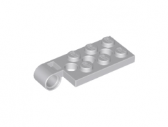 Lego alkatrész - Light Bluish Gray Hinge Plate 2x4 with Pin Hole and 3 Holes - Top