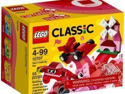 LEGO Classic - Piros kreatív készlet