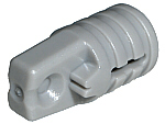Lego alkatrész - Light Bluish Gray Hinge Cylinder 1x2 Locking with 1 Finger and Axle Hole on Ends