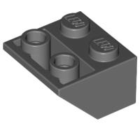 Lego alkatrész - Dark Bluish Gray Slope, Inverted 45 2x2