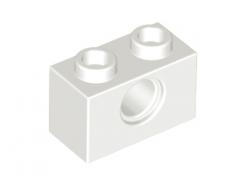 LEGO Alkatrész - White Technic, Brick 1x2 with Hole