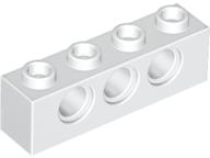 LEGO Alkatrész - White Technic, Brick 1x4 with Holes