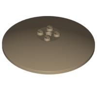 LEGO Alkatrész - Dark Tan Dish 8x8 Inverted (Radar)