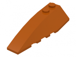 LEGO alkatrész - Dark Orange Wedge 6x2 Left