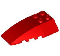 LEGO Alkatrész - Red Wedge 6x4 Triple Curved