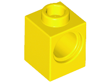 LEGO Alkatrész - Yellow Technic, Brick 1x1 with Hole