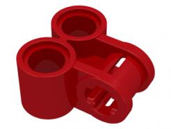LEGO Alkatrész - Red Technic, Axle and Pin Connector Perpendicular Double