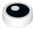 LEGO Alkatrész - White Tile, Round 1x1 with Black Eye with Pupil