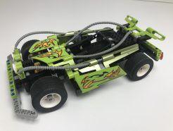 Lego Technic - Motoros Zöld Versenyautó