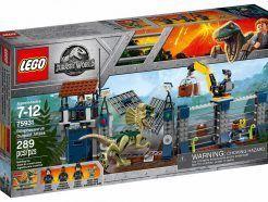 LEGO Jurrasic World Dilophosaurus támadás az előörs ellen