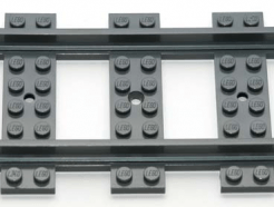 Lego Alkatrész - Train, Track Plastic (RC Trains) Straight