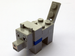 Lego Minifigura - Minecraft Farkas