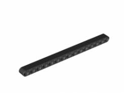 Lego alkatrész - Black Technic, Liftarm 1 x 15 Thick